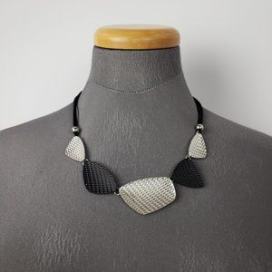 Black & Silver Statement Necklace